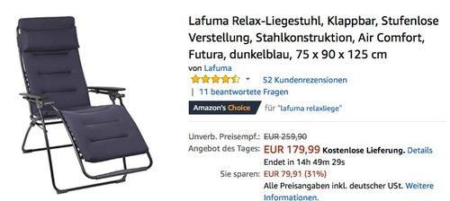 Lafuma Relax-Liegestuhl - jetzt 18% billiger