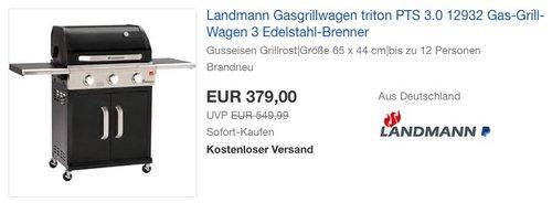 Landmann Gasgrillwagen triton PTS 3.0 12932 - jetzt 16% billiger