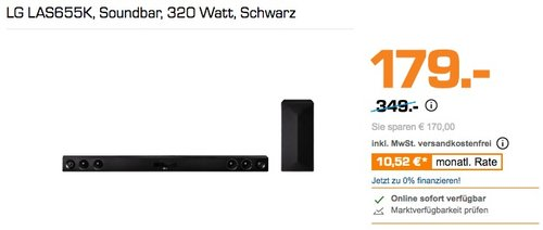 LG LAS655K Soundbar 320 Watt - jetzt 25% billiger