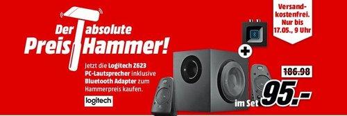 LOGITECH Z623 PC-Lautsprecher + Logitech Bluetooth Audio Adapter - jetzt 37% billiger