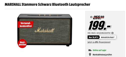 MARSHALL Stanmore Schwarz Bluetooth Lautsprecher - jetzt 15% billiger