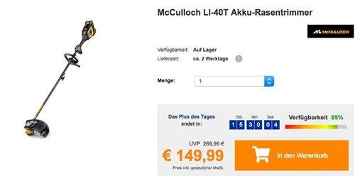 McCulloch LI-40T Akku-Rasentrimmer - jetzt 28% billiger