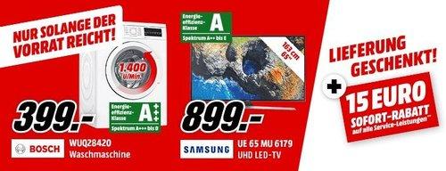 MediaMarkt : Lieferung Geschenkt - Aktion + 15 Euro Sofort-Rabatt auf Service -Leistungen - jetzt 17% billiger