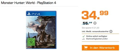 Monster Hunter: World - PlayStation 4 - jetzt 27% billiger