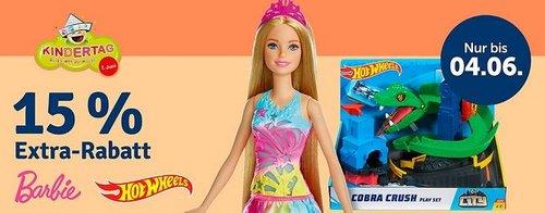 myToys.de : 15 % Rabat auf uf Barbie und Hot Wheels- Barbie 2-Etagen Ferienpuppenhaus & Puppe - jetzt 14% billiger