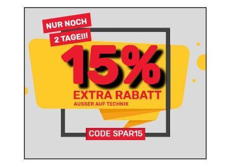 Neckermann.de - 15% Rabatt auf alle Artikel ausgenommen Technik: VibroShaper™ Vibrationsplatte - jetzt 15% billiger