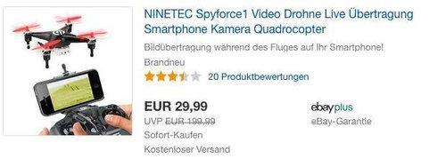 NINETEC Spyforce1 Video Drohne - jetzt 23% billiger