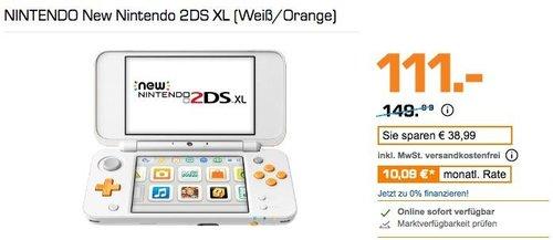 NINTENDO New Nintendo 2DS XL weiß orange - jetzt 8% billiger