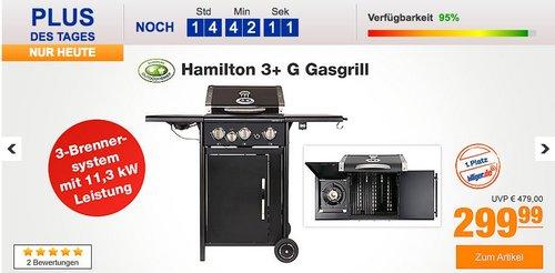 Outdoorchef Hamilton 3+ G Gasgrill edelschwarz - jetzt 12% billiger