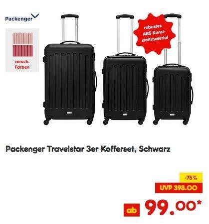 Packenger Travelstar 3er Kofferset - jetzt 34% billiger