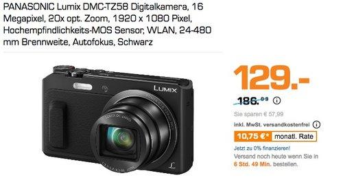 PANASONIC Lumix DMC-TZ58 Digitalkamera, 16 Megapixel, 20x opt. Zoom, 1920 x 1080 Pixel - jetzt 31% billiger