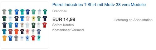 Petrol Industries T-Shirt mit Motiv 38 vers Modelle - jetzt 16% billiger