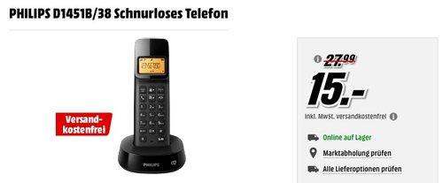 PHILIPS D1451B/38 Schnurloses Telefon - jetzt 35% billiger