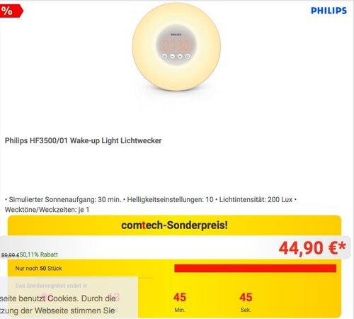 Philips HF3500/01 Wake-up Light Lichtwecker in Weiß - jetzt 17% billiger