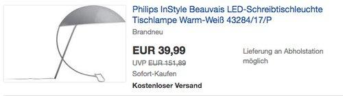 Philips InStyle Beauvais LED-Schreibtischleuchte - jetzt 54% billiger