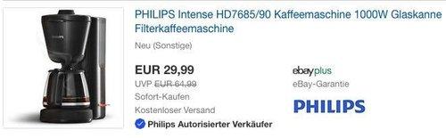 PHILIPS Intense HD7685/90 Kaffeemaschine (mit Verpackungsmängel) - jetzt 57% billiger