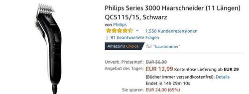 Philips Series 3000 Haarschneider (11 Längen) QC5115/15 - jetzt 24% billiger