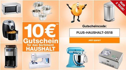 Plus.de Onlineshop - 10€ Gutschein auf Haushalt bis zum 11.05.18 (Bsp.: SodaStream Crystal Megapack 2.0 Wassersprudler weiß) - jetzt 8% billiger