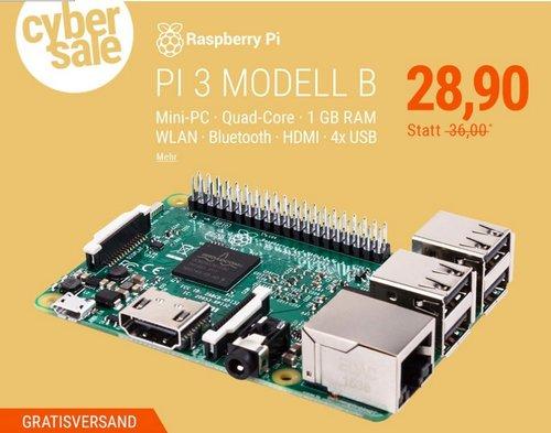 Raspberry Pi 3 Modell B 1 GB SBC - jetzt 10% billiger