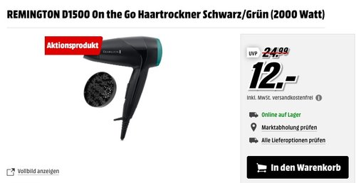 REMINGTON D1500 On the Go Haartrockner - jetzt 33% billiger