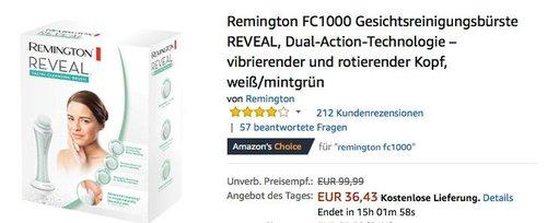 Remington FC1000 Gesichtsreinigungsbürste REVEAL - jetzt 27% billiger