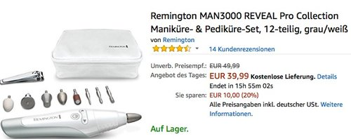 Remington MAN3000 REVEAL Pro Collection Maniküre- & Pediküre-Set - jetzt 11% billiger