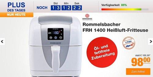 Rommelsbacher FRH 1400 Heißluft-Fritteuse - jetzt 29% billiger
