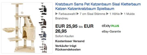 Sam´s Pet Kratzbaum Buffy - jetzt 13% billiger