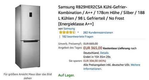 Samsung RB29HER2CSA Kühl-Gefrier-Kombination A++ - jetzt 15% billiger