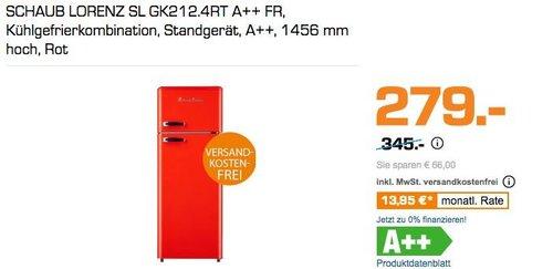 SCHAUB LORENZ SL GK212.4RT A++ FR, Kühlgefrierkombination - jetzt 19% billiger