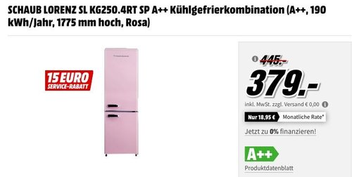 SCHAUB LORENZ SL KG250.4RT SP A++ Kühlgefrierkombination, A++, Rosa - jetzt 5% billiger