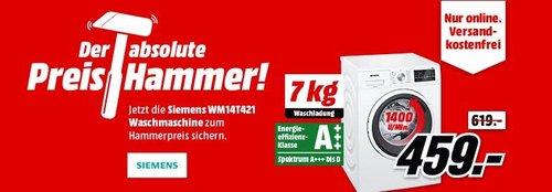 SIEMENS WM14T421 Waschmaschine (7 kg, 1400 U/Min., A+++) - jetzt 7% billiger