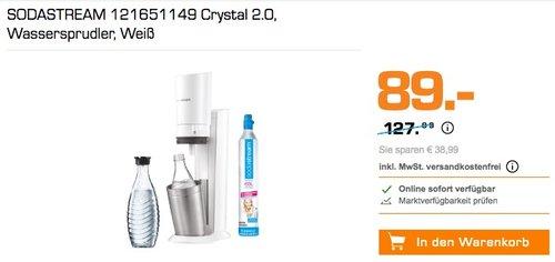 SODASTREAM Crystal 2.0 Wassersprudler, Weiß - jetzt 14% billiger