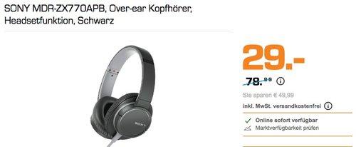 SONY MDR-ZX770APB Over-ear Kopfhörer - jetzt 17% billiger