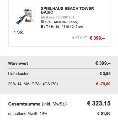 Spielturm Beach Tower Basic - jetzt 14% billiger