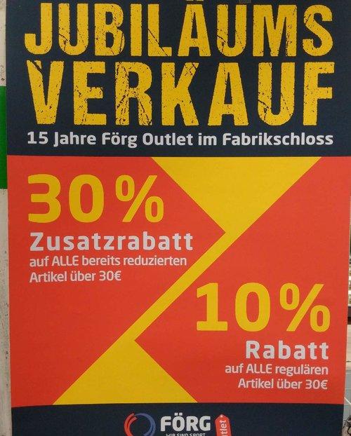 Sport Förg Outlet Augsburg: 30% Rabatt auf bereits reduzierten Artikel (z.B. Easy Camp Galaxy 300 Zelt) - jetzt 30% billiger