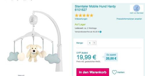 Sterntaler Mobile Hund Hardy - jetzt 14% billiger