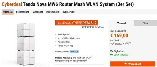Tenda Nova MW6 Router Mesh WLAN System (3er Set) - jetzt 15% billiger