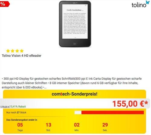 Tolino Vision 4 HD eReader - jetzt 6% billiger