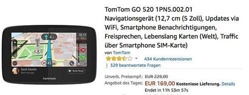TomTom GO 520 1PN5.002.01 Navigationsgerät - jetzt 16% billiger