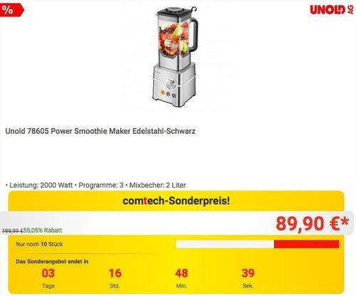 Unold 78605 Power Smoothie Maker - jetzt 30% billiger