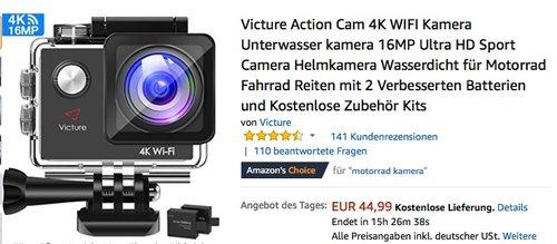 Victure Action Cam 4K WIFI Kamera - jetzt 25% billiger