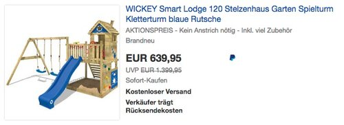 WICKEY Spielturm Smart Lodge 120 - jetzt 11% billiger