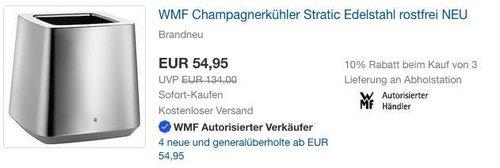 WMF Champagnerkühler Stratic Edelstahl - jetzt 31% billiger