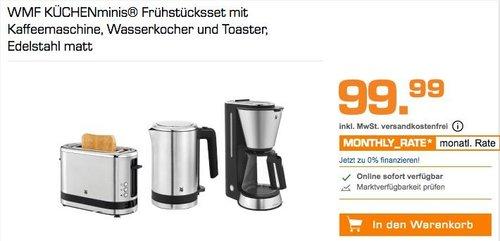 WMF KÜCHENminis® Frühstücksset mit Kaffeemaschine, Wasserkocher und Toaster - jetzt 26% billiger