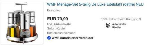 WMF Menage-Set 5-teilig Dosierer Salzmühle Pfeffermühle Ständer De Luxe Edelstahl - jetzt 22% billiger