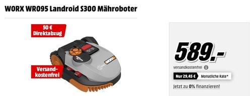 WORX Landroid S300 Mähroboter - jetzt 7% billiger