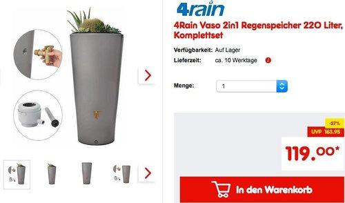 4Rain Vaso 2in1 Regenspeicher 220 Liter - jetzt 14% billiger