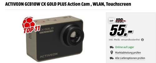 ACTIVEON GCB10W CX GOLD PLUS Action Cam - jetzt 44% billiger