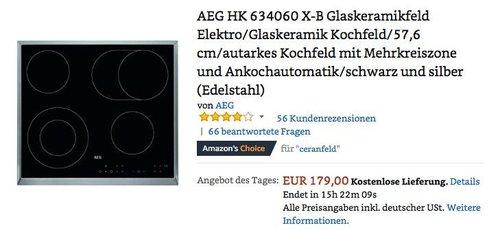 AEG HK 634060 X-B Glaskeramikfeld Elektro Kochfeld - jetzt 19% billiger